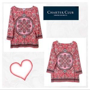 Macy's Charter Club | Three Quarter Sleeve Top
